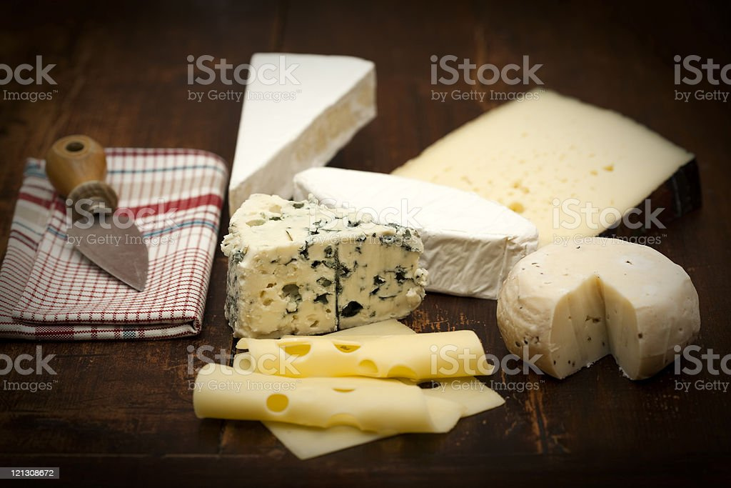 variation of cheese stock photo