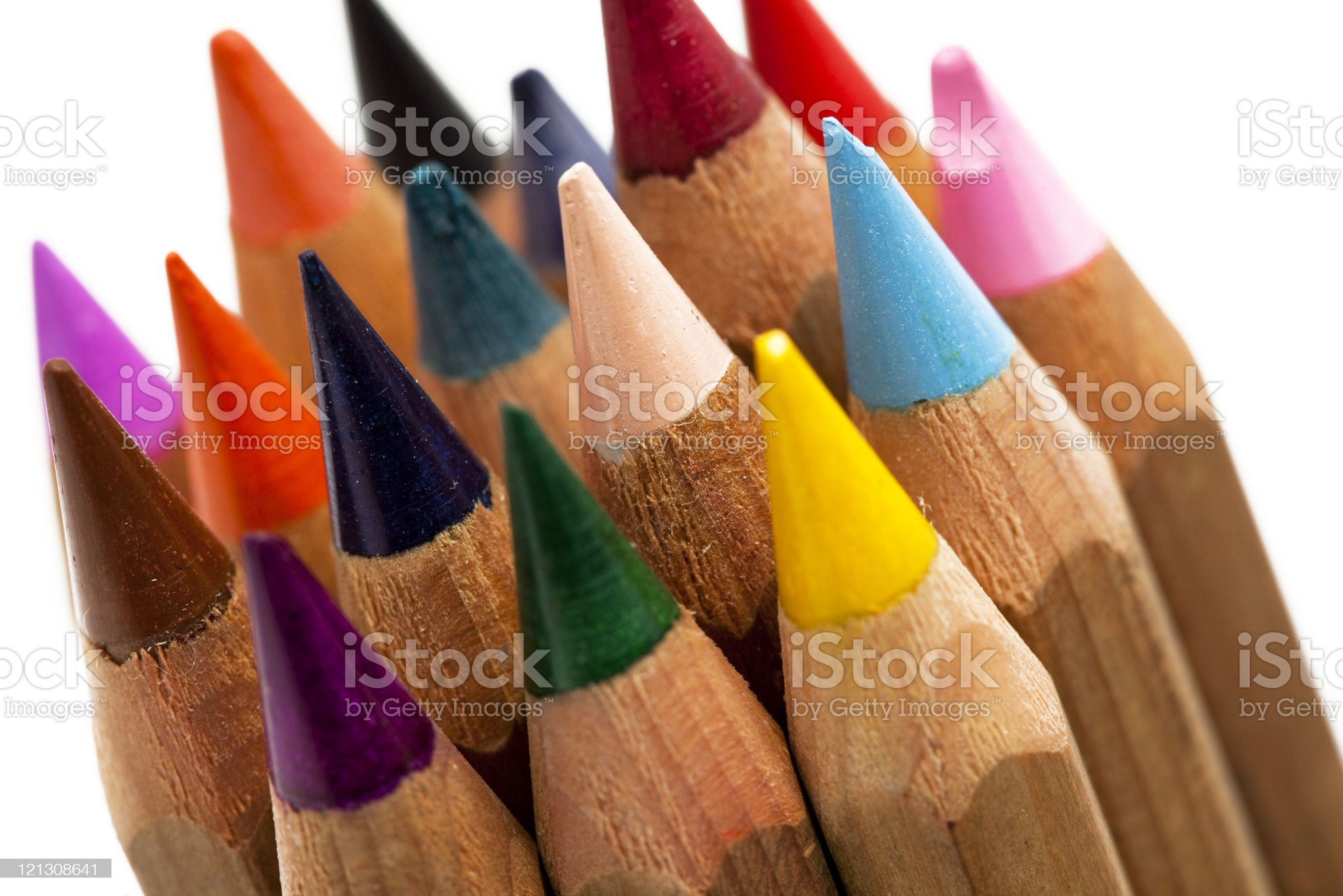variation of colorful crayons royalty-free stock photo