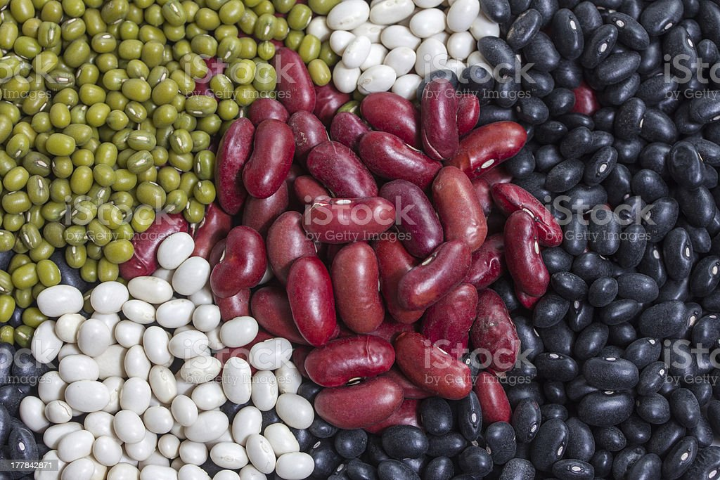 variation of dried beans royalty-free stock photo