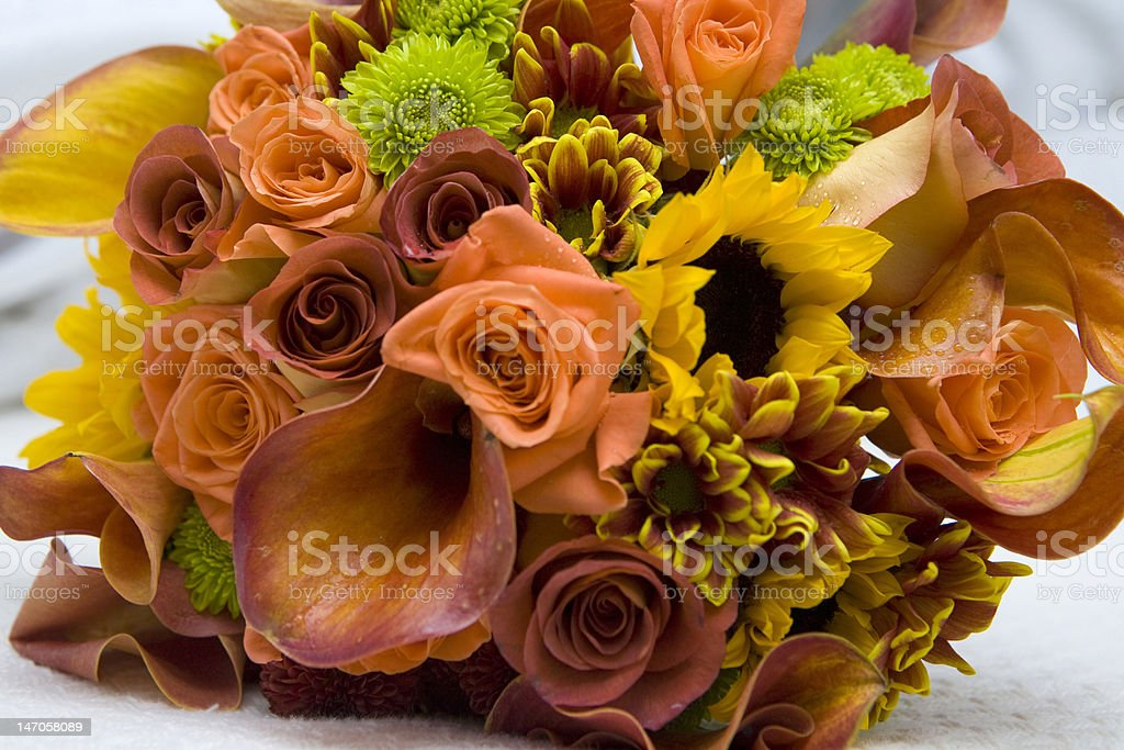 Variation of flowers, bouquet royalty-free stock photo