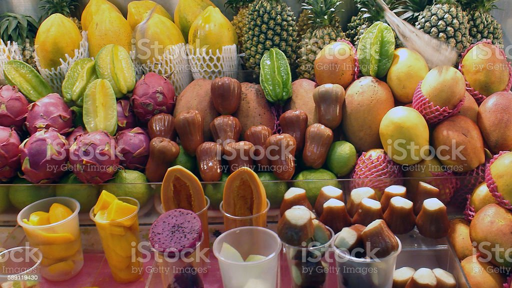Variation Of Fruits On The Market In Taipei Taiwan stock photo