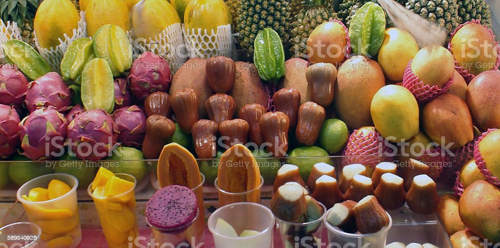 Variation Of Fruits On The Market In Taipei Taiwan.Asia stock photo