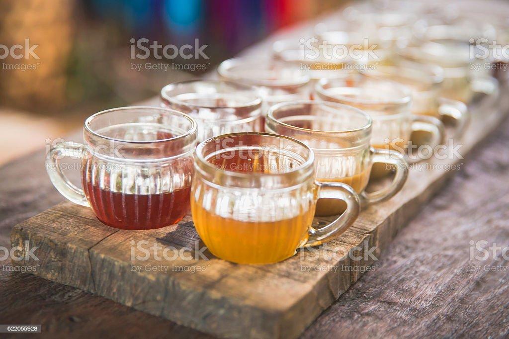 Variation of herbal tea stock photo