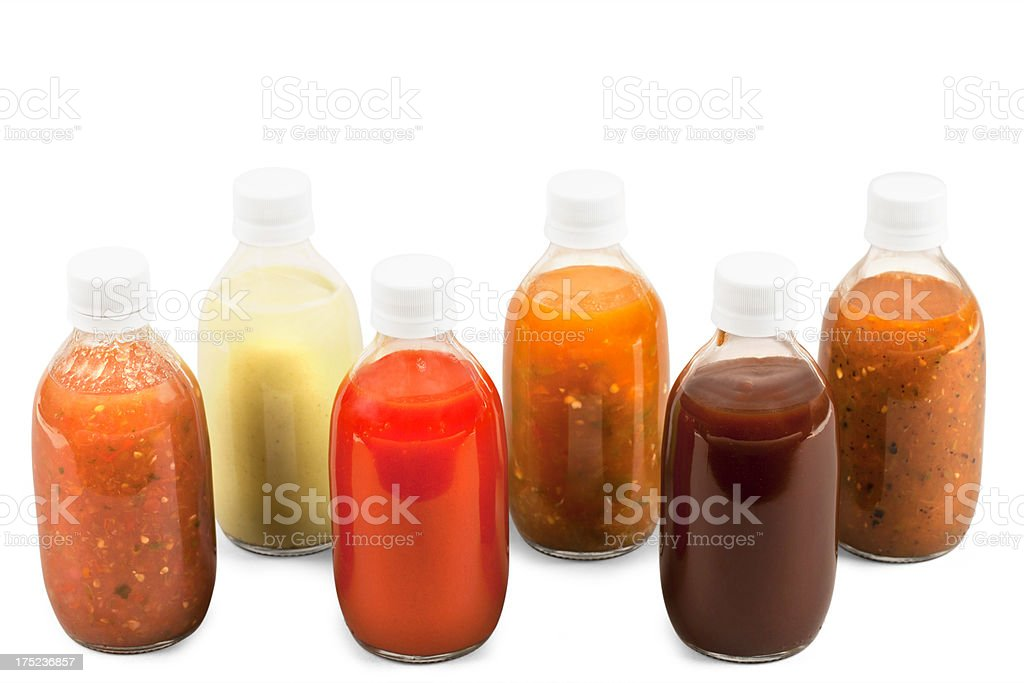 Variation of Mexican Salsas stock photo