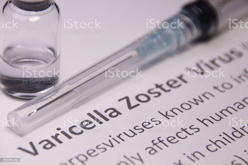 Varicella Zoster Vaccine stock photo