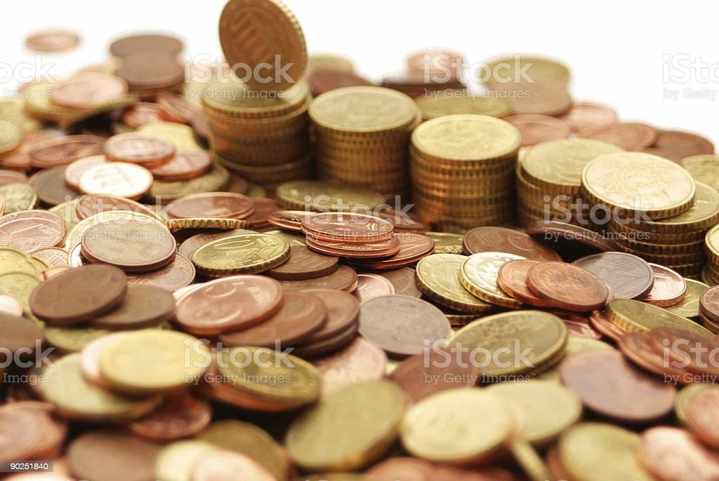 varie monete royalty-free stock photo