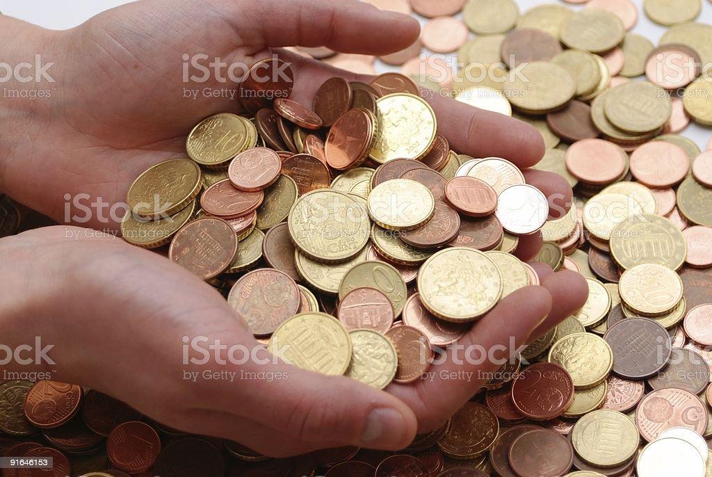 varie monete stock photo