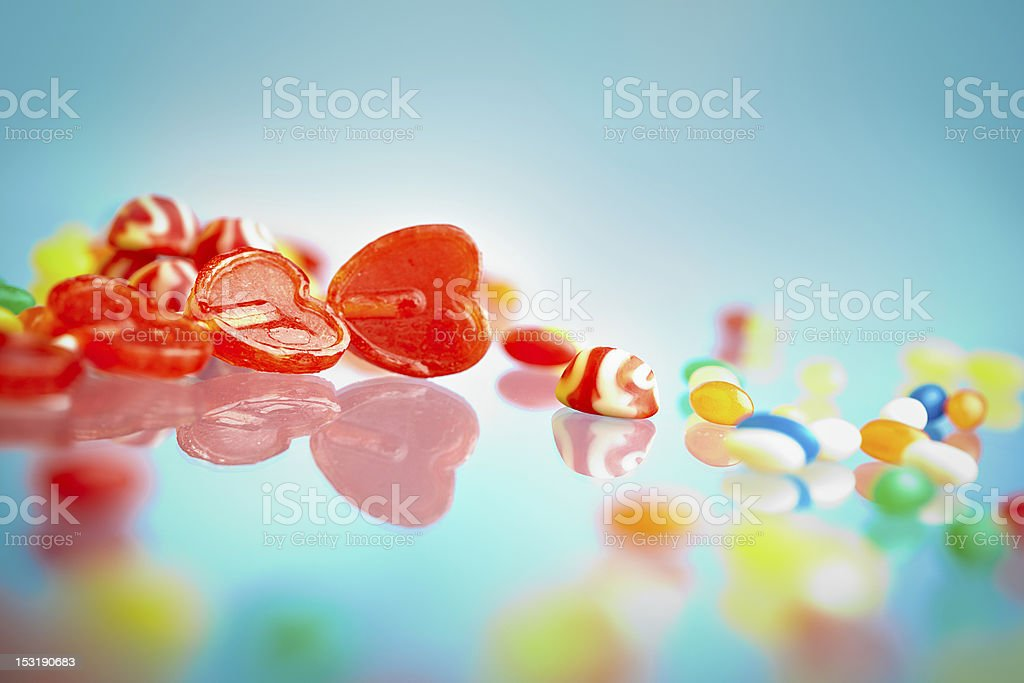 Varied candies royalty-free stock photo