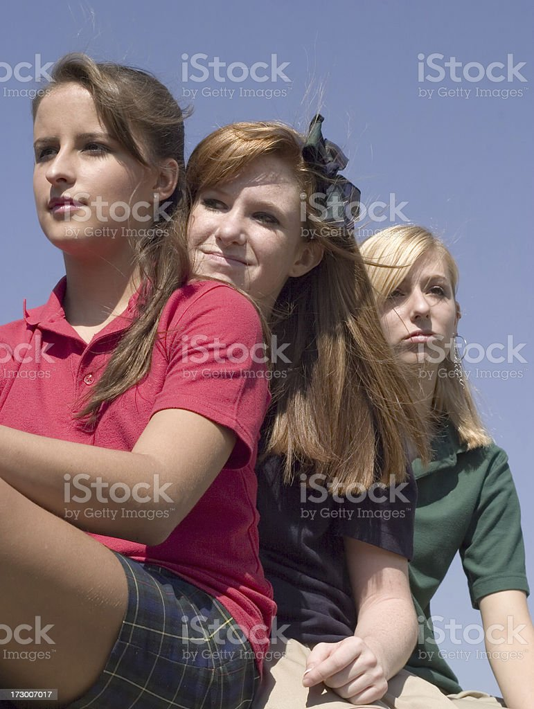 Varied Emotions - Teenaged Girls royalty-free stock photo