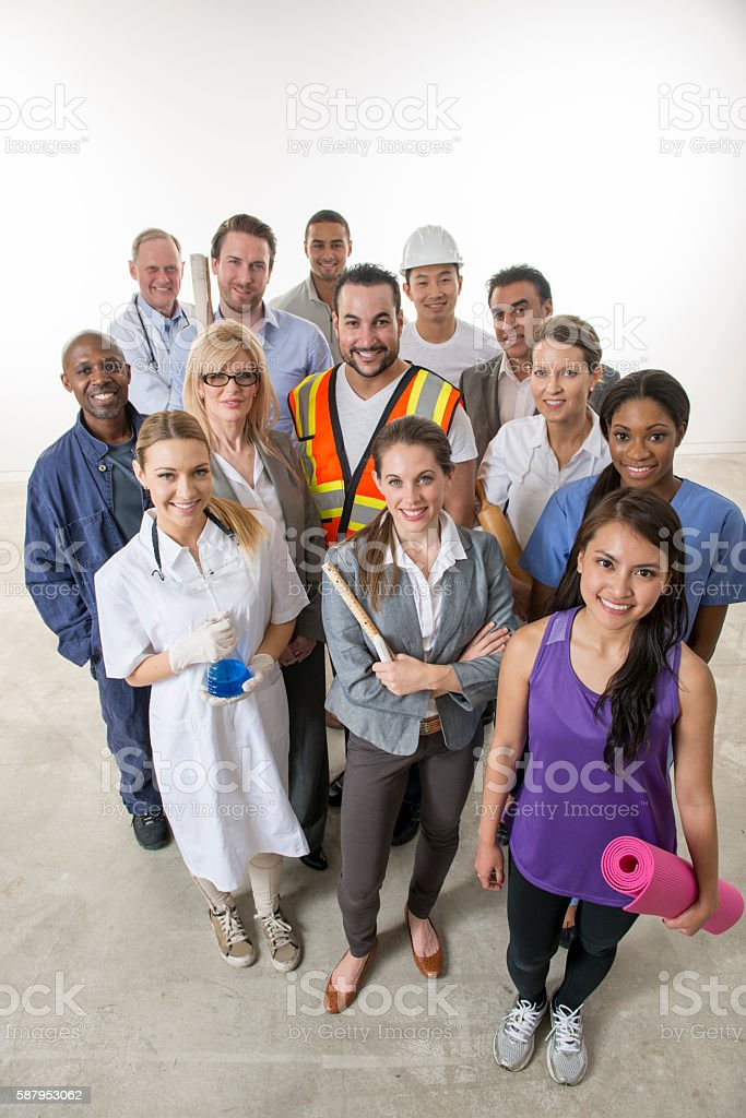 Varied Group of Adult Professionals stock photo