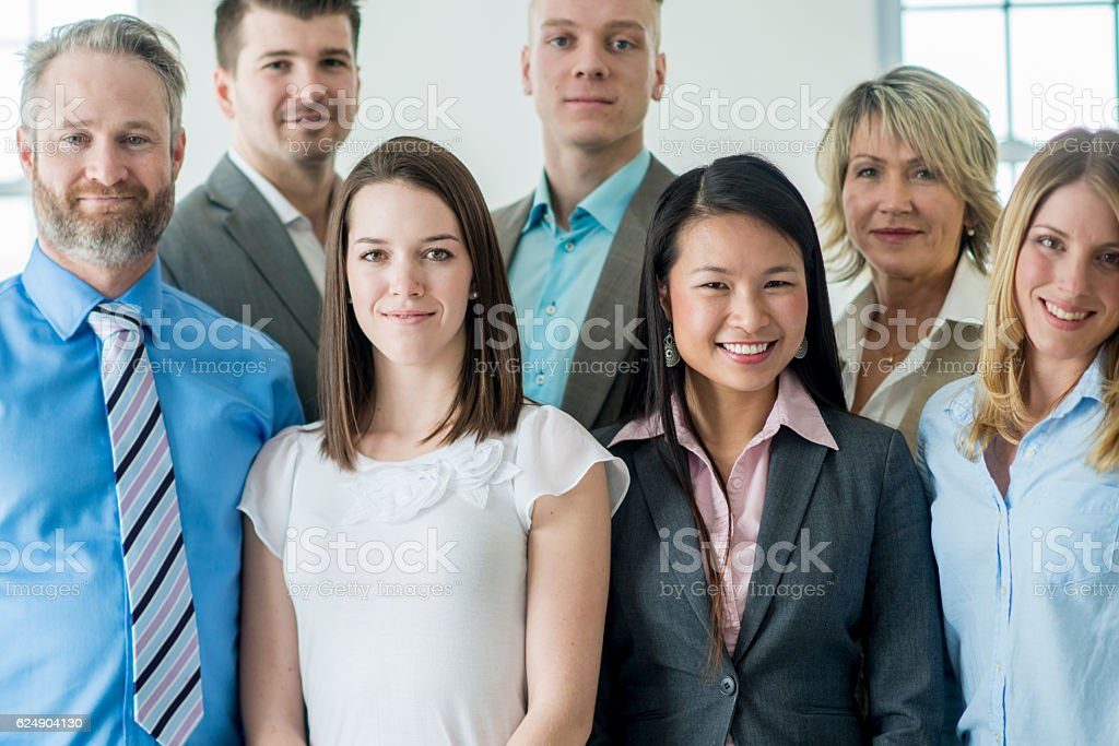 Varied Group of Business Professionals stock photo