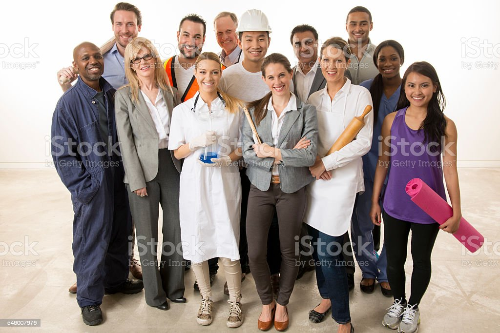 Varied Professions stock photo