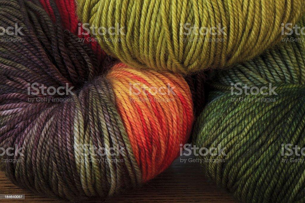 Variegated Yarn stock photo