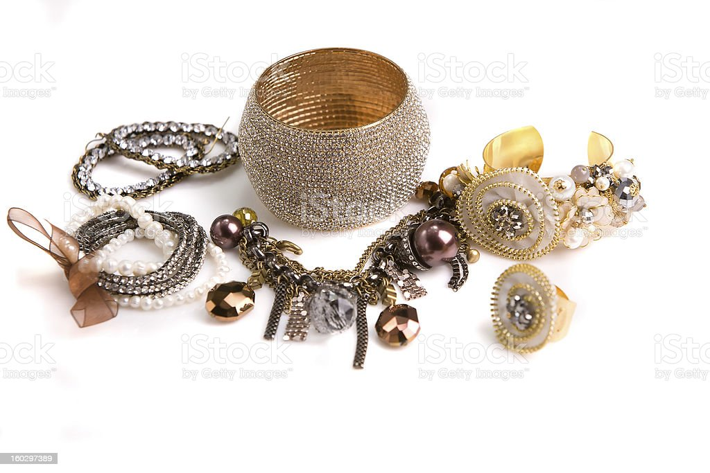 Varies Jewelry royalty-free stock photo