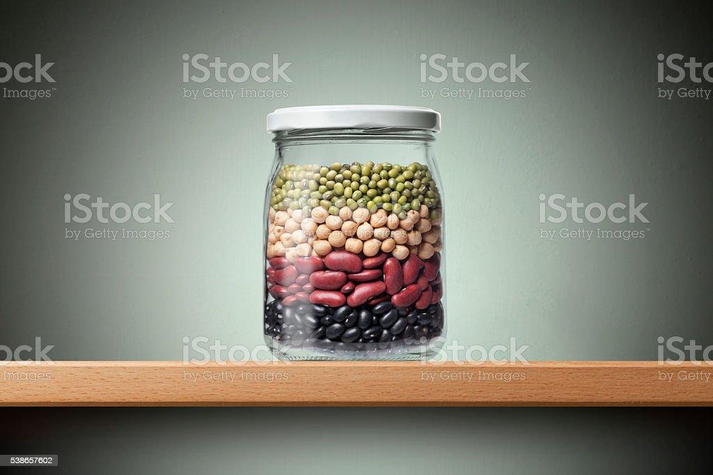 Varieties of beans stock photo
