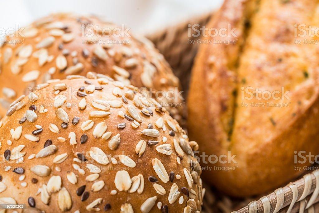 varieties of bread stock photo