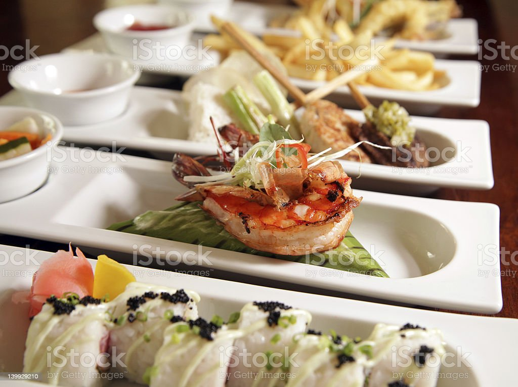 varieties of food focus at center royalty-free stock photo