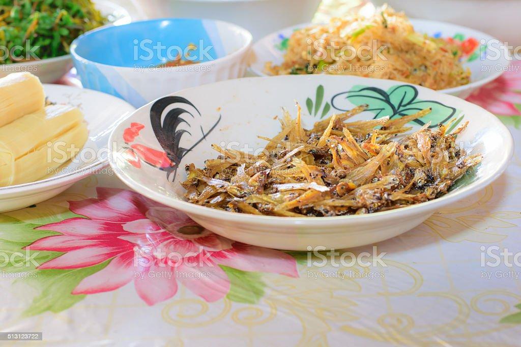 Varieties of Thai foods stock photo