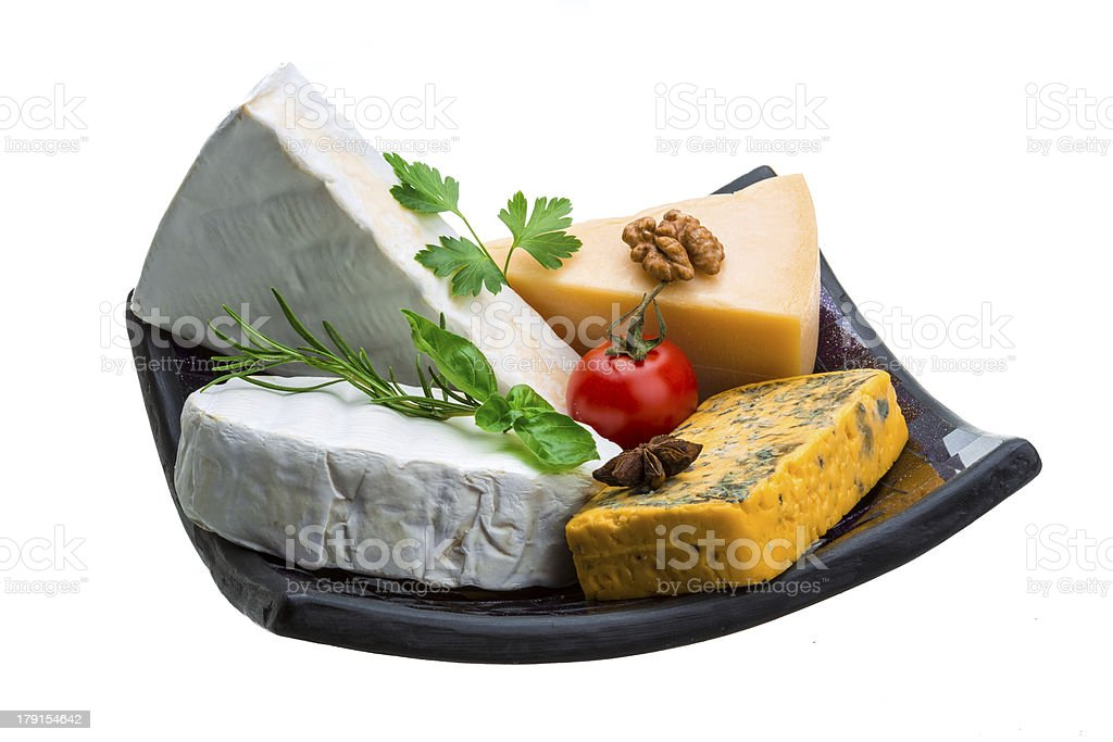 Variety cheese assortment royalty-free stock photo