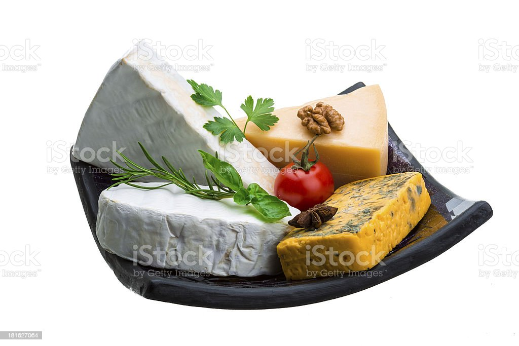 Variety cheese assortment royalty-free stock photo