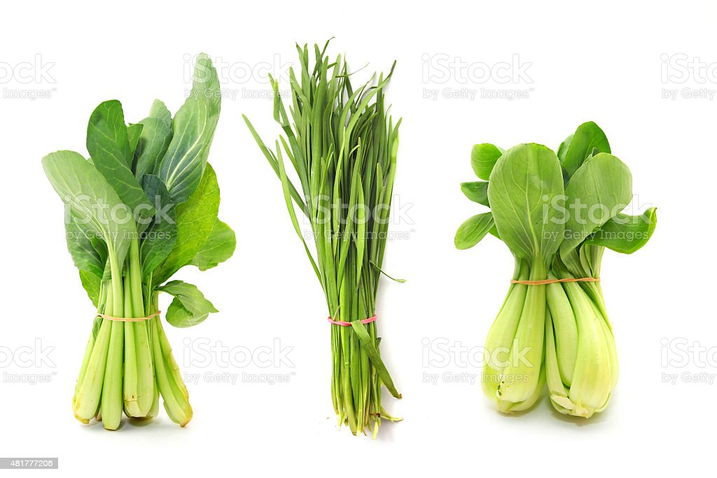 Variety of Asian vegetables stock photo