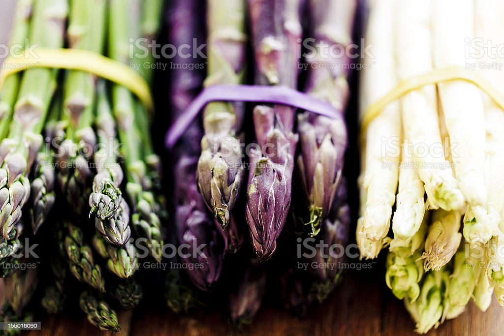 Variety of Asparagus stock photo