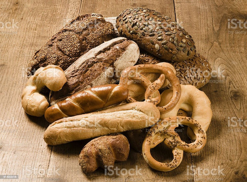 Variety of bakery products royalty-free stock photo