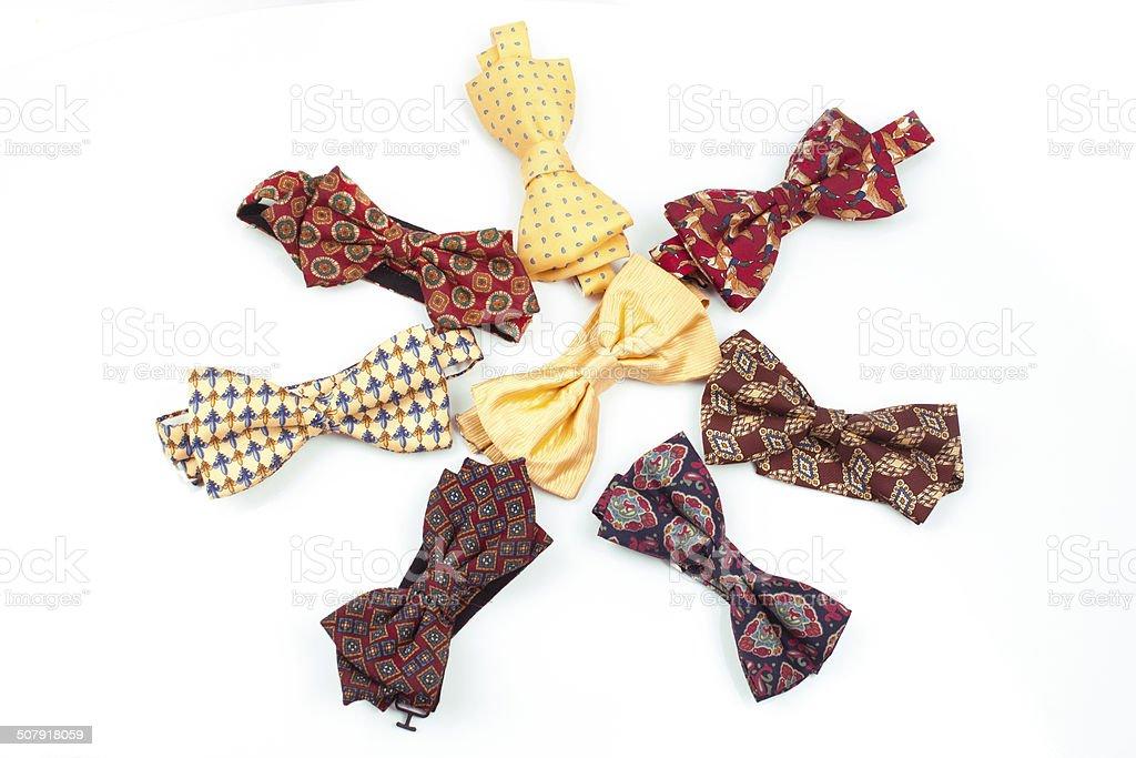 variety of bow ties stock photo