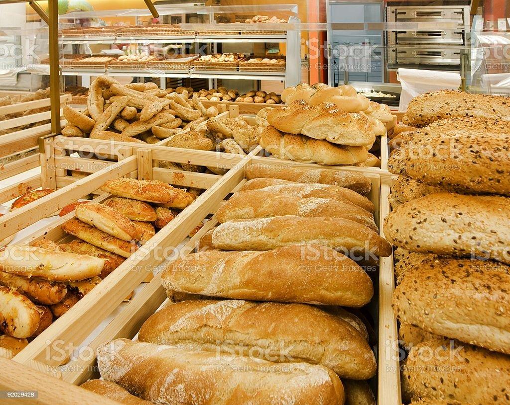 Выбор хлеб в Супермаркет Стоковые фото Стоковая фотография