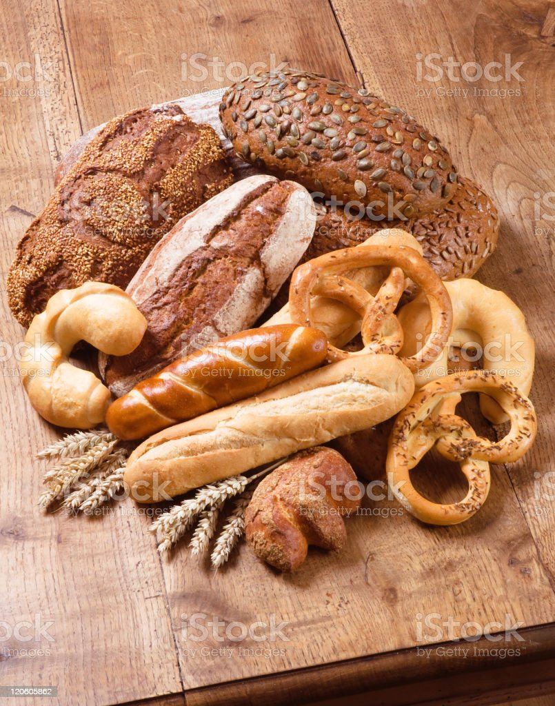 Variety of bread royalty-free stock photo
