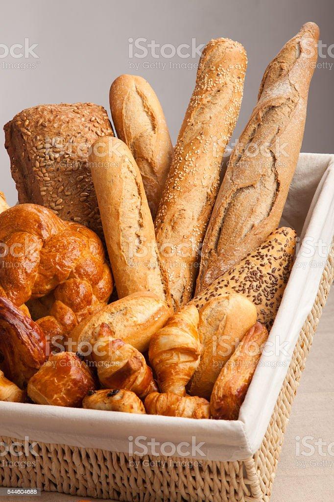 Variety of bread stock photo
