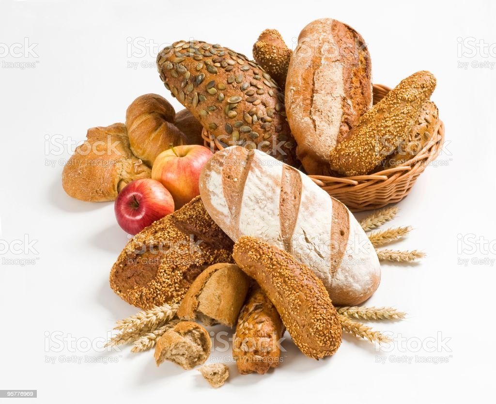 Variety of brown bread royalty-free stock photo