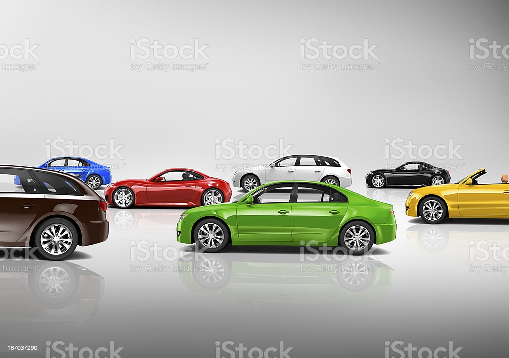 Variety of Car Collection stock photo