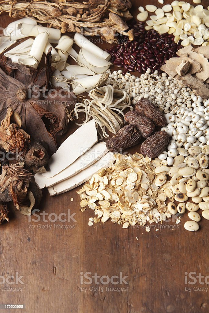 Variety of Chinese Medicinal Herb Vt royalty-free stock photo