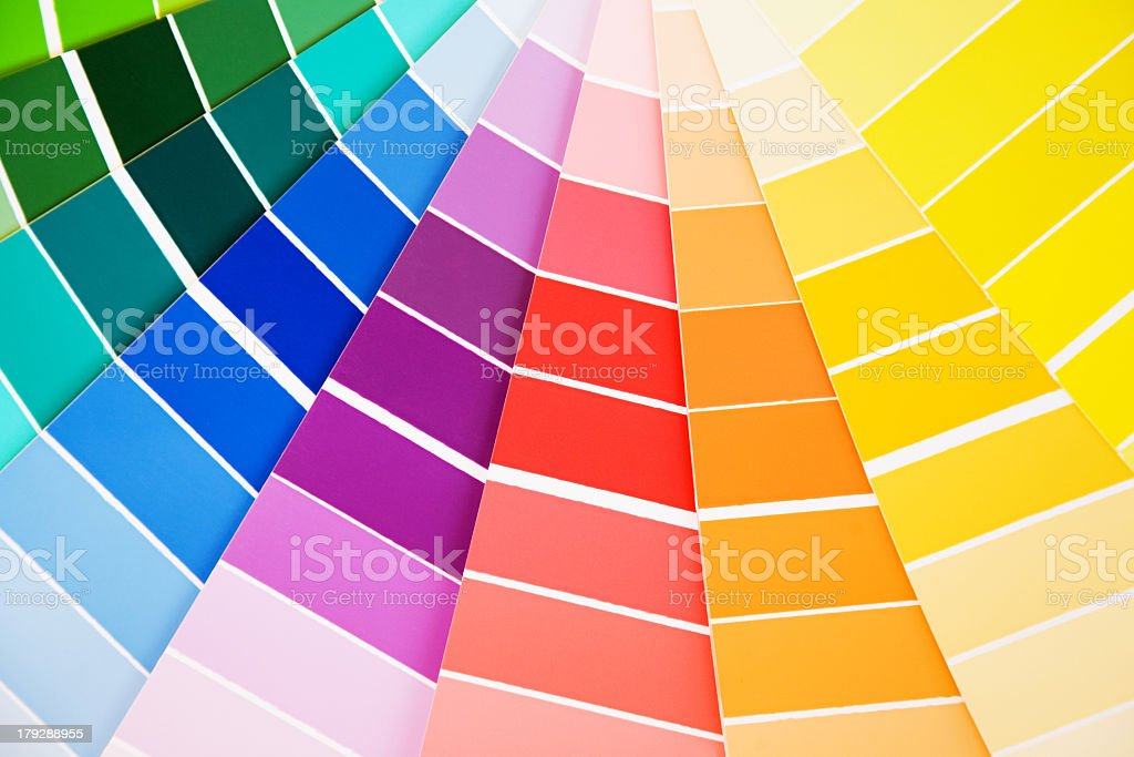 Variety of color guide samples royalty-free stock photo