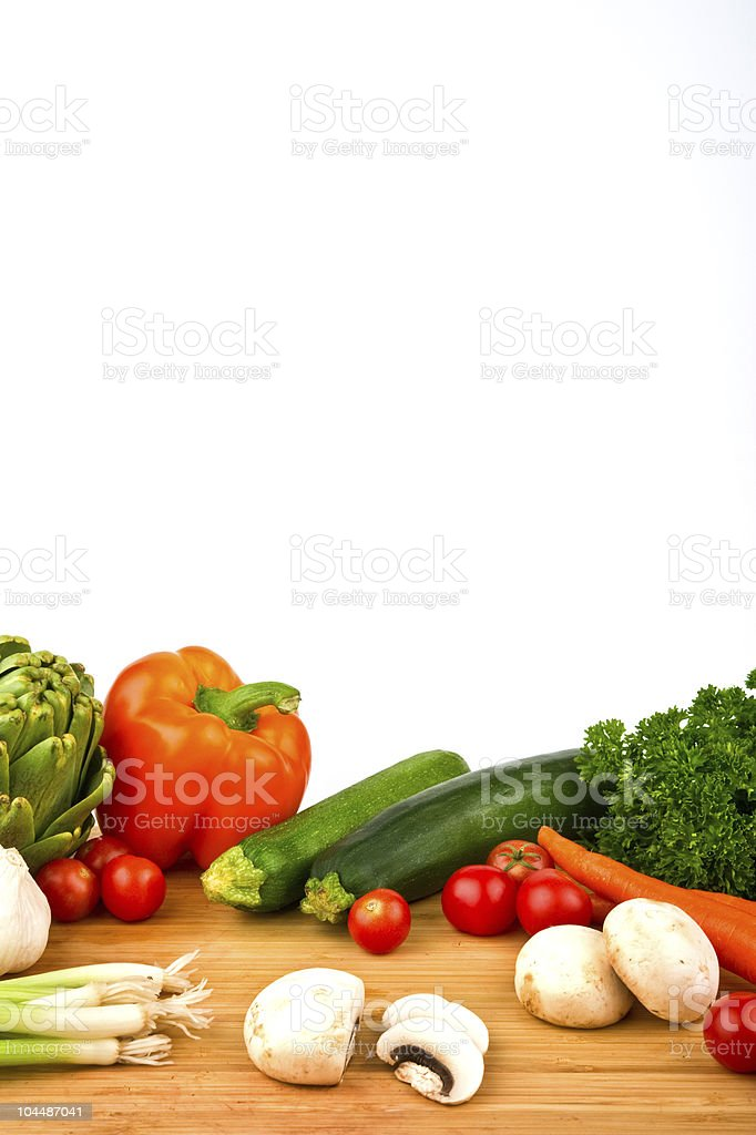 Variety of Colorful Vegetables royalty-free stock photo