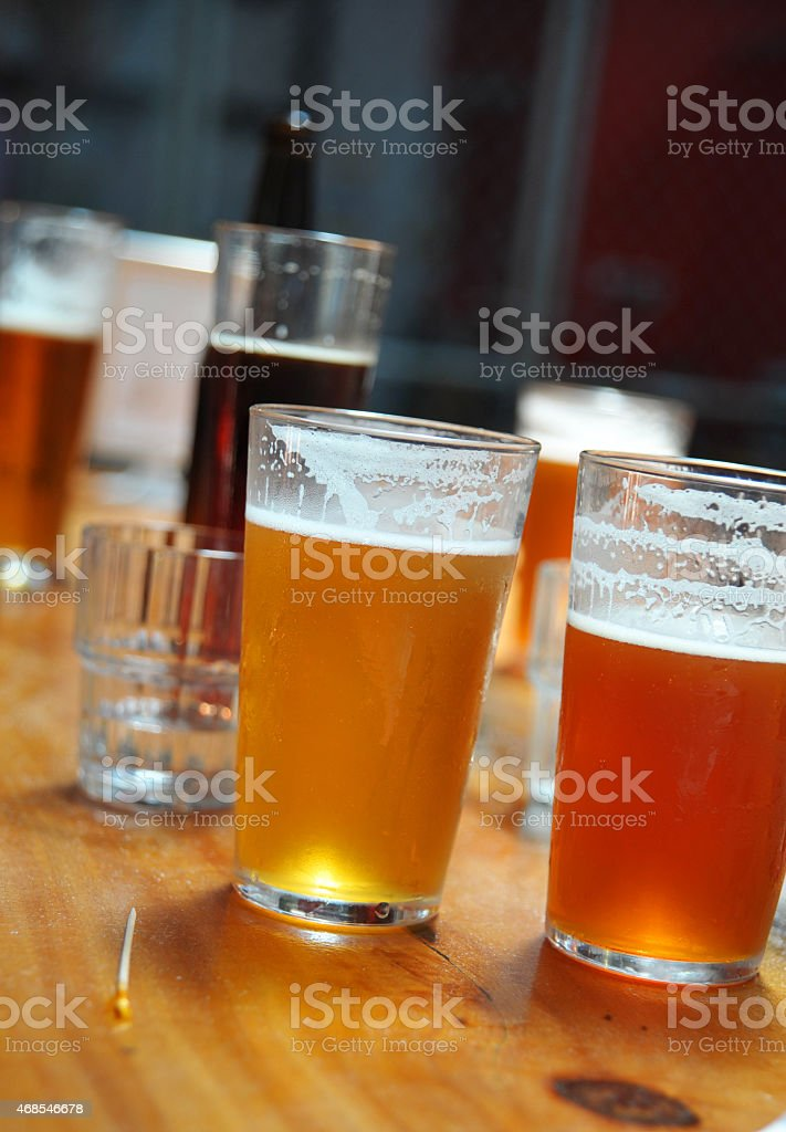 Variety of different beers stock photo