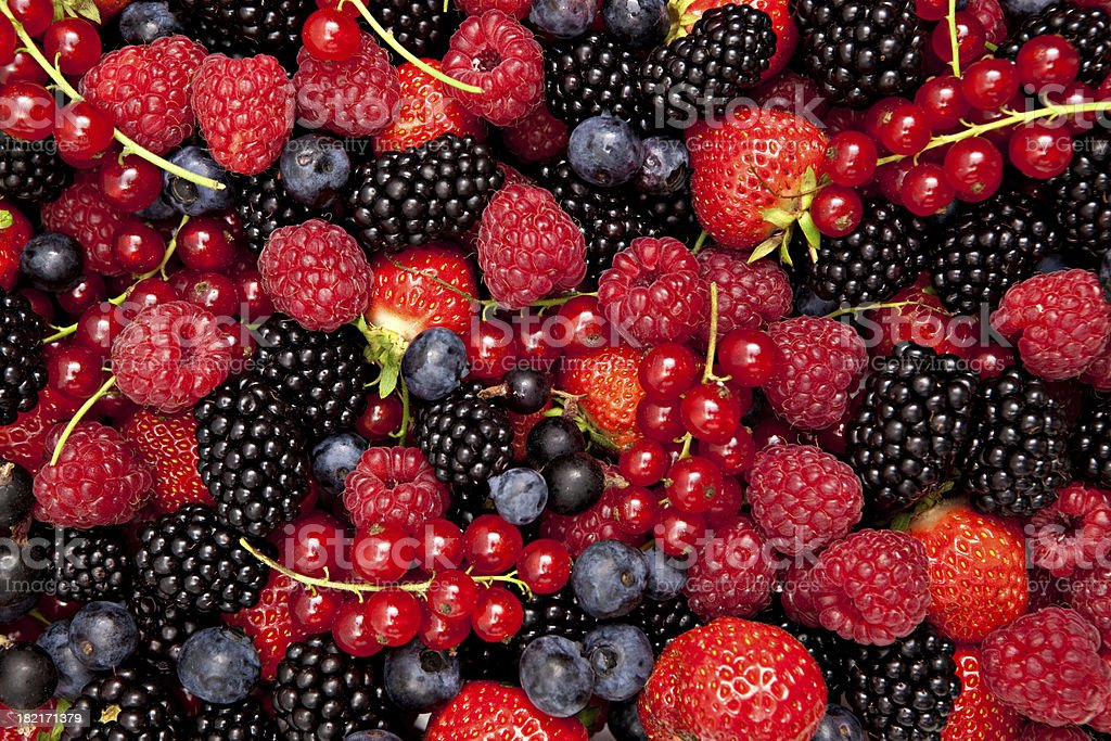 variety of fresh berries royalty-free stock photo