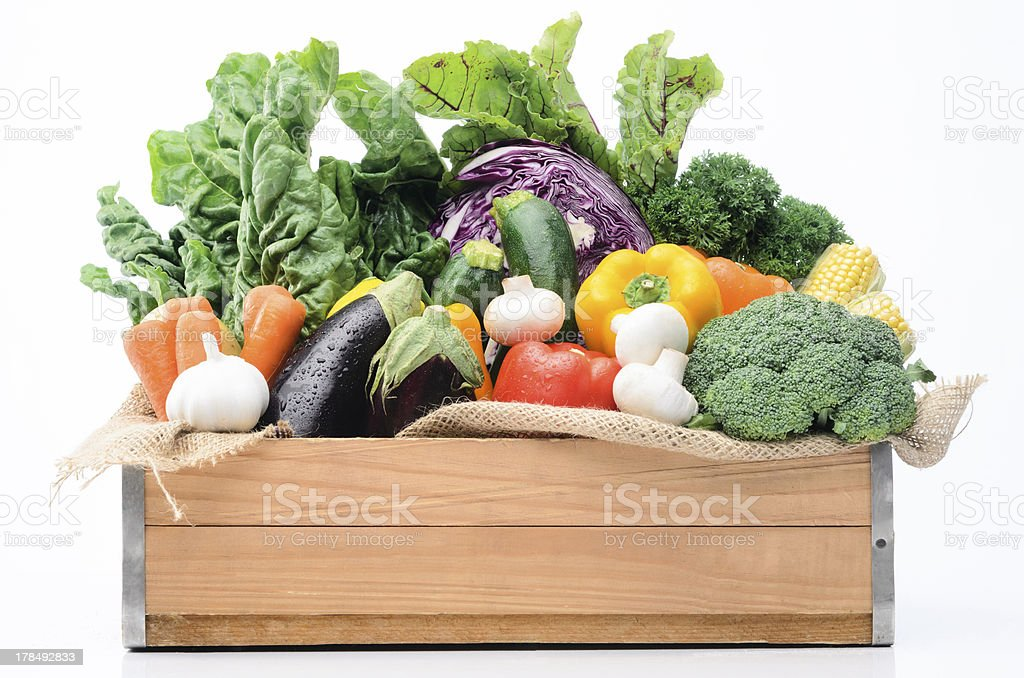 Variety of fresh colorful vegetables royalty-free stock photo