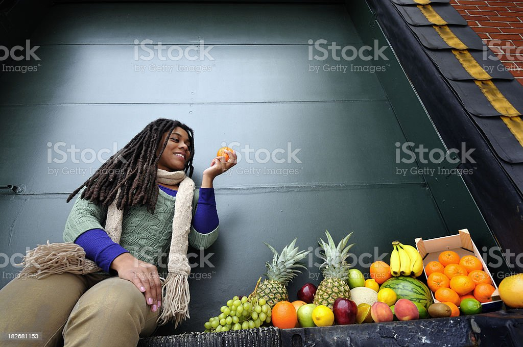 Variety of Fresh Fruit, Just Delivered stock photo