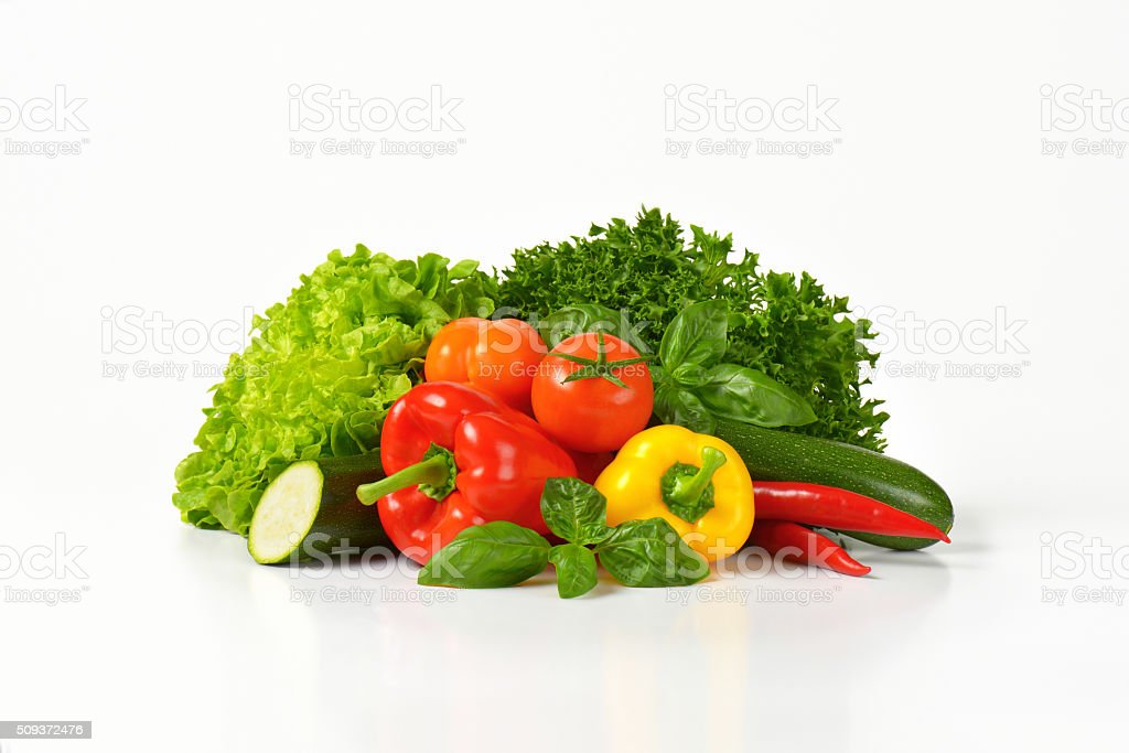 variety of fresh vegetables stock photo