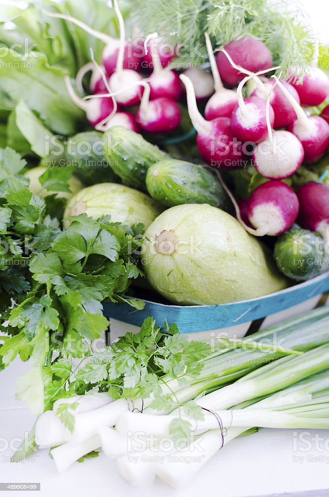 Variety of fresh vegetables. Selective focus. Shalow DOF. royalty-free stock photo