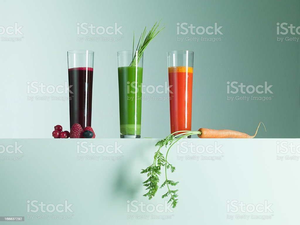 Variety of fruit and vegetable juices royalty-free stock photo