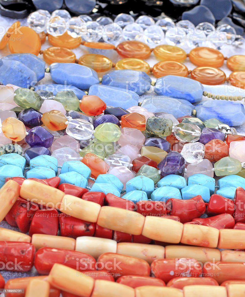 Variety of gemstone colors royalty-free stock photo