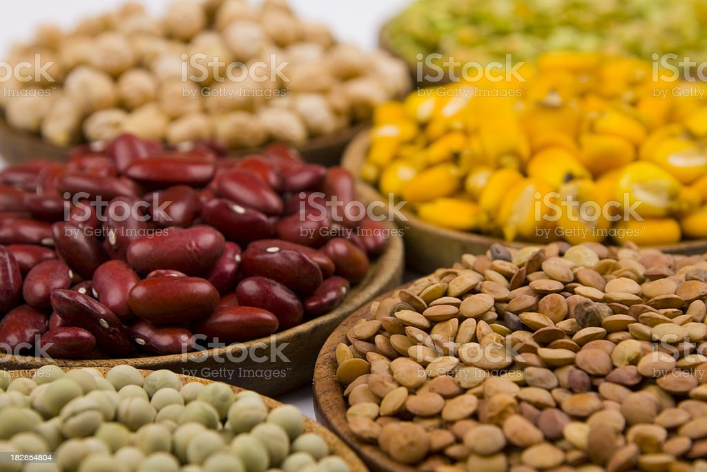 variety of grains stock photo