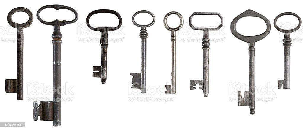 Variety of Keys royalty-free stock photo
