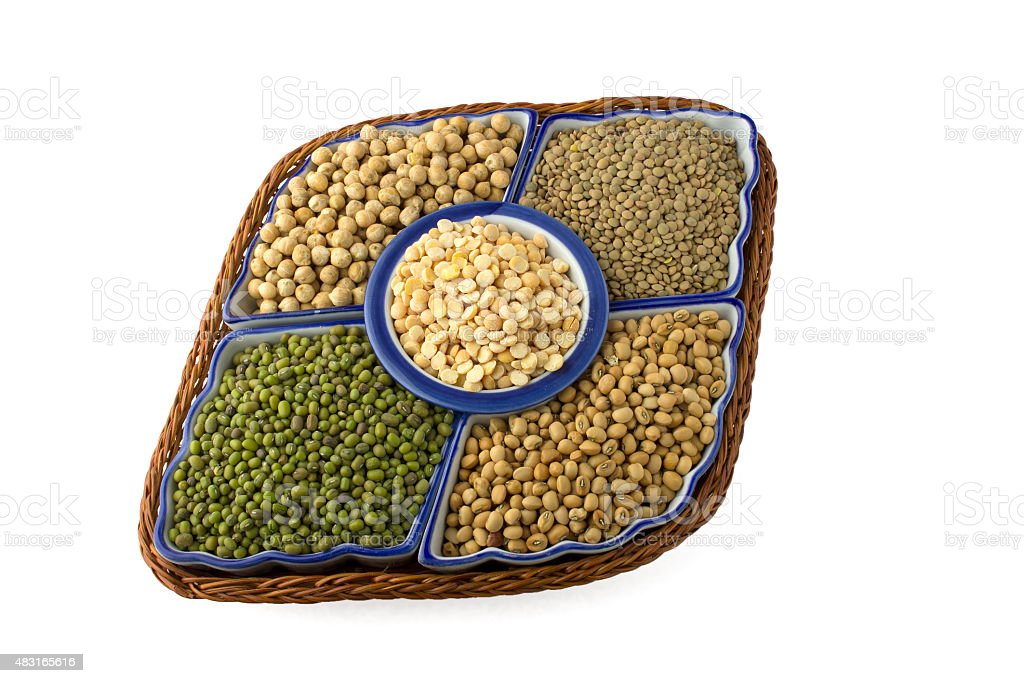 variety of legumes stock photo