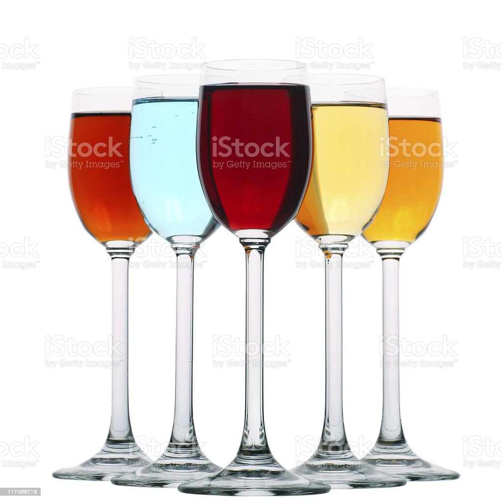 variety of liqueurs royalty-free stock photo