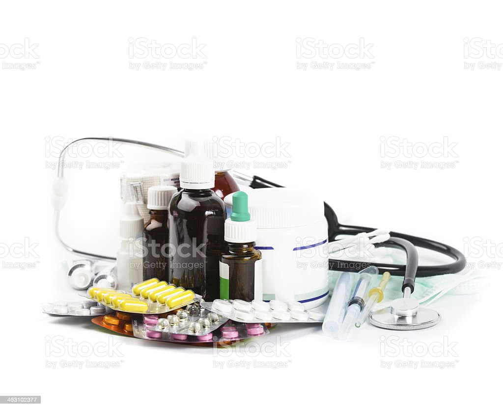 variety of medicine royalty-free stock photo