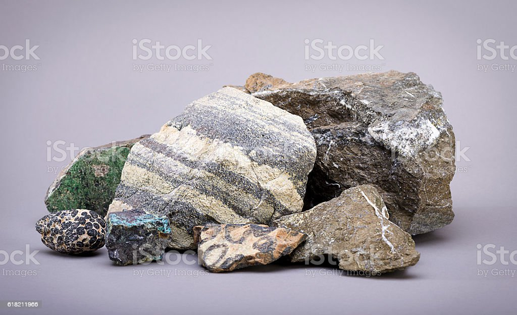 Variety of Mine Ores stock photo